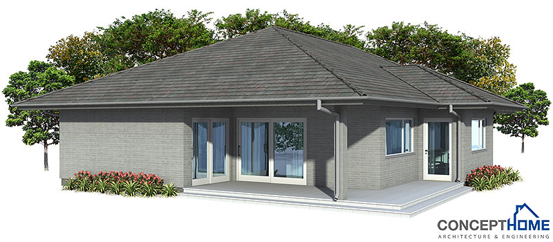 Modern House CH70 with simple shapes House Plan
