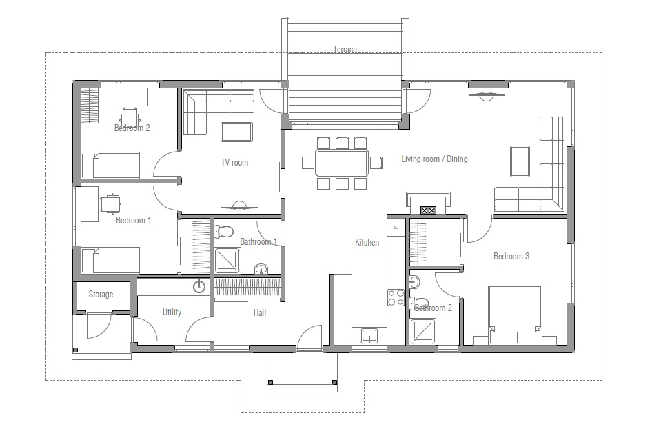 Affordable housing floor plans affordable home ch63 for Affordable house plans