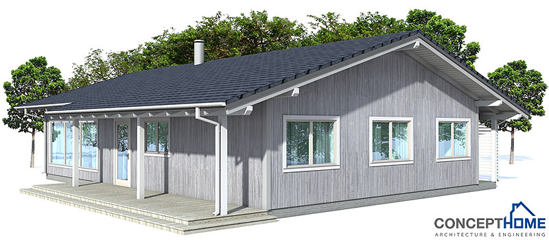 Affordable home ch32 with logical floor layout house plan Low cost home plans to build
