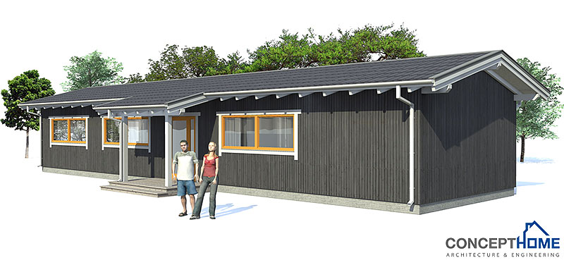 Affordable home ch12 to narrow lot house plan for Small house plans with lots of windows