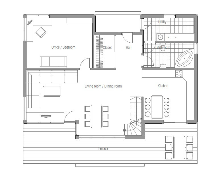 Affordable home ch91 floor plans and outside images house for Affordable floor plans