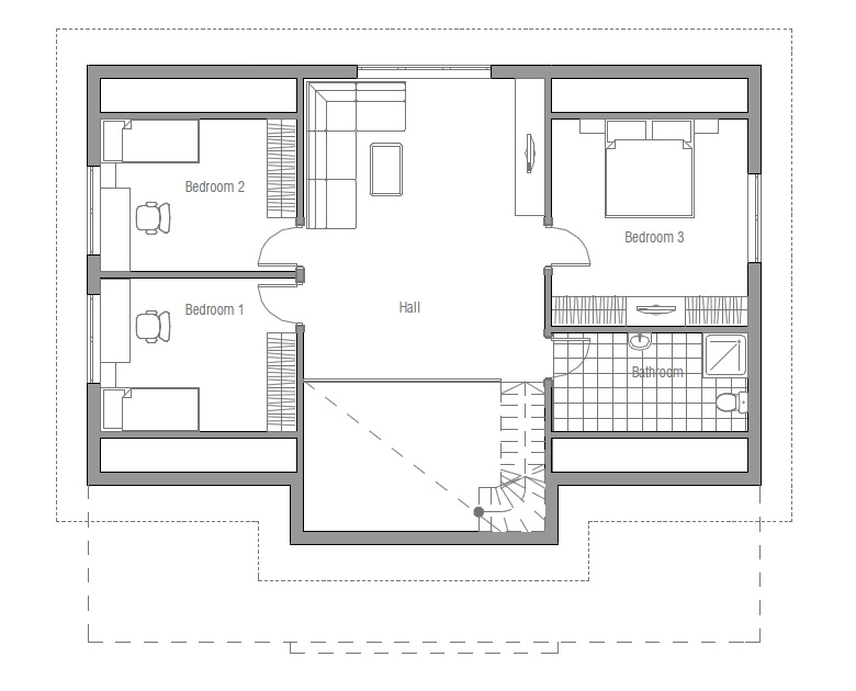 Affordable home ch91 floor plans and outside images house for Economical house plans