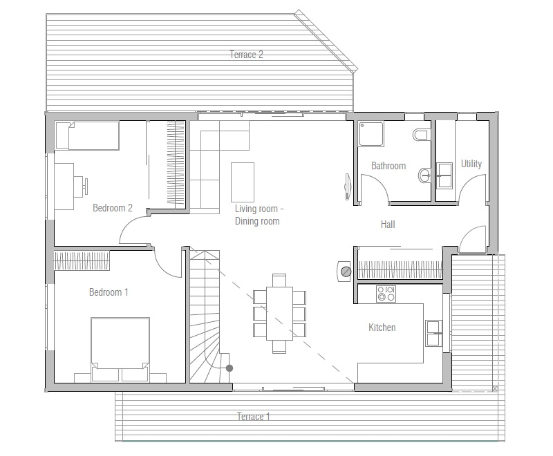 Affordable Home Ch21 In Modern Architecture House Plan