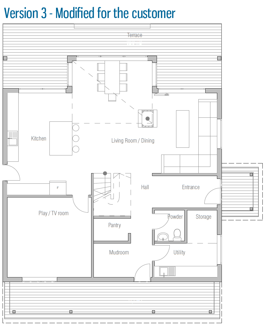 Modern house ch62 2f 169m 4b small house plan with four for Floor plans for 160 000