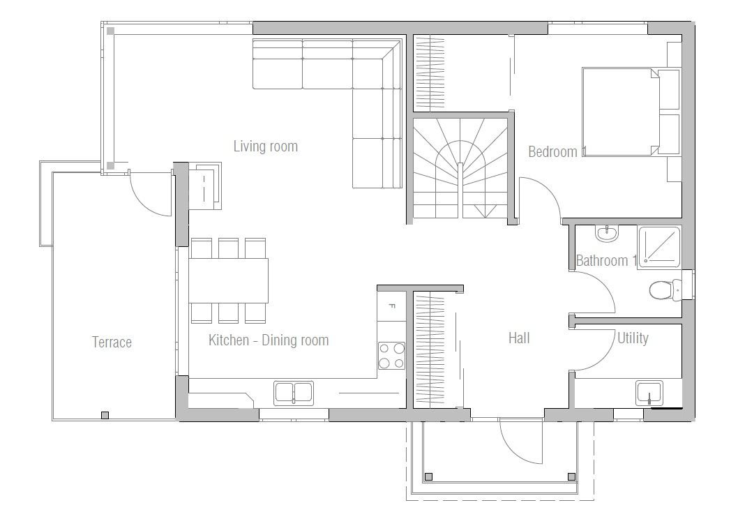 House floor plan 127 for Affordable housing floor plans
