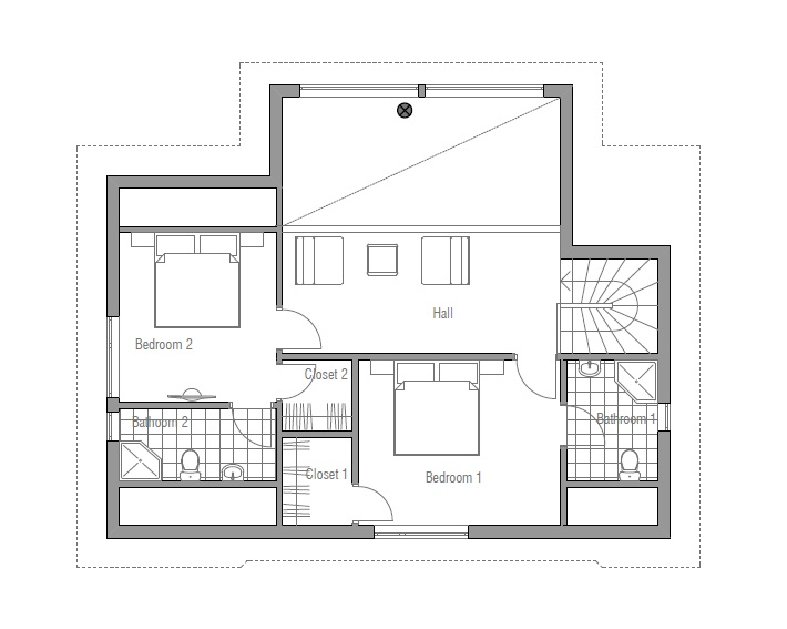 House floor plan 139 for Affordable modern house plans to build