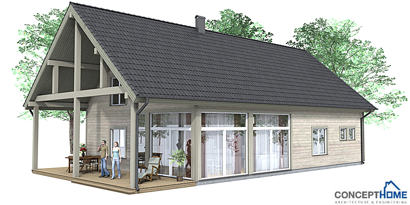 Affordable home ch35 floor plans and 3d images house plan for Four lights tiny house plans
