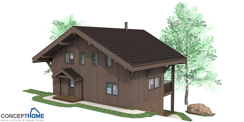 Affordable home ch58 with three floor to small lot house plan for Affordable 4 bedroom houses