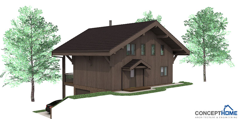 Affordable Home Ch58 With Three Floor To Small Lot House Plan