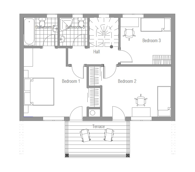 Grimshaw Designs A Tiny Home That S Affordable: Affordable Home CH58 With Three Floor To Small Lot. House Plan