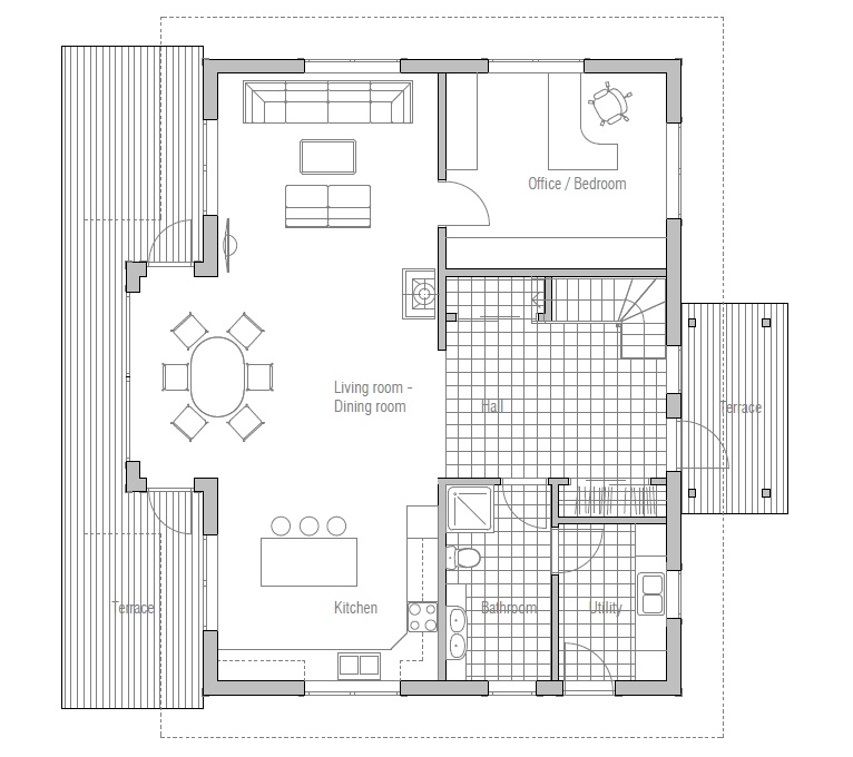 Affordable Home Ch40 In Classical Architecture House Plan