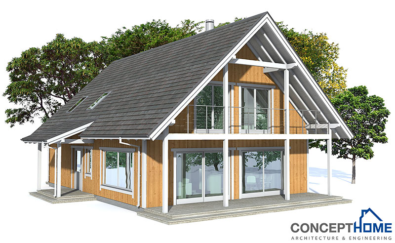 Affordable home ch137 floor plans with low cost to build Inexpensive house plans to build
