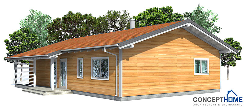 Small house ch32 1f 134m 3b affordable house plan for Affordable building