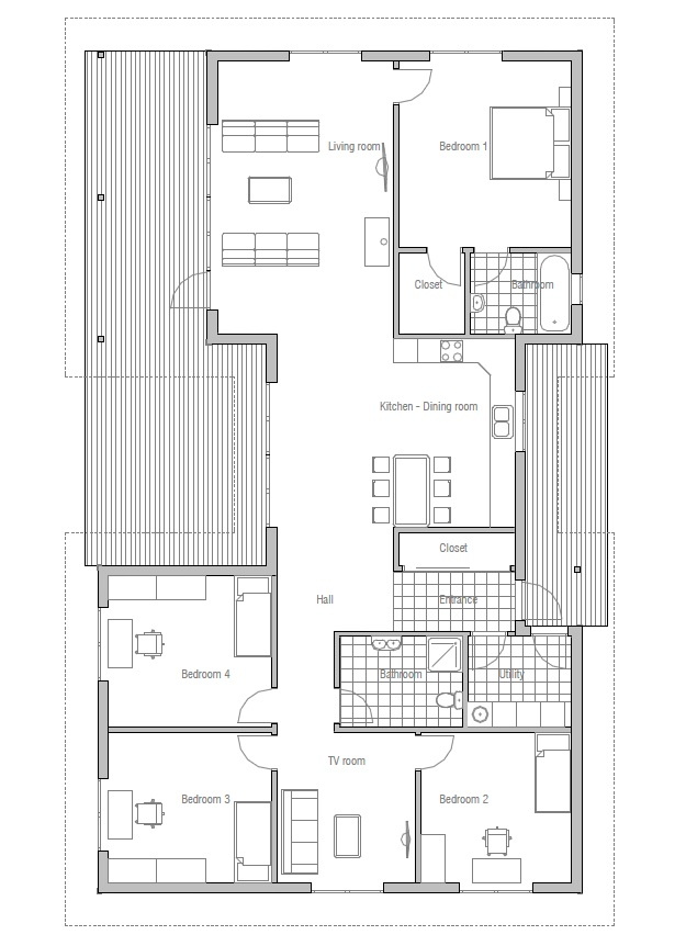 Affordable home ch36 detailed construction blueprints for Affordable floor plans