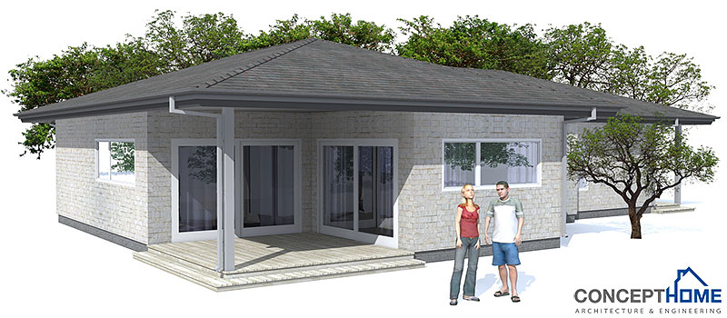 Affordable home ch73 in modern architecture and low cost for Low cost home plans to build