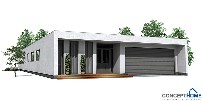 Contemporary Home Plan CO105 Modern House To Narrow