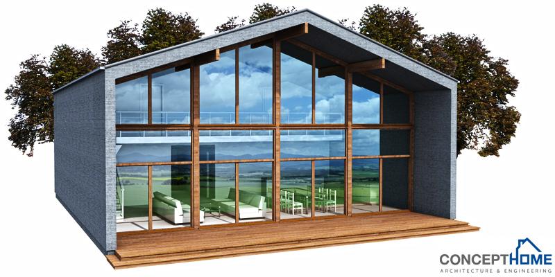 Contemporary Home Plan Ch152 Construction Blueprints