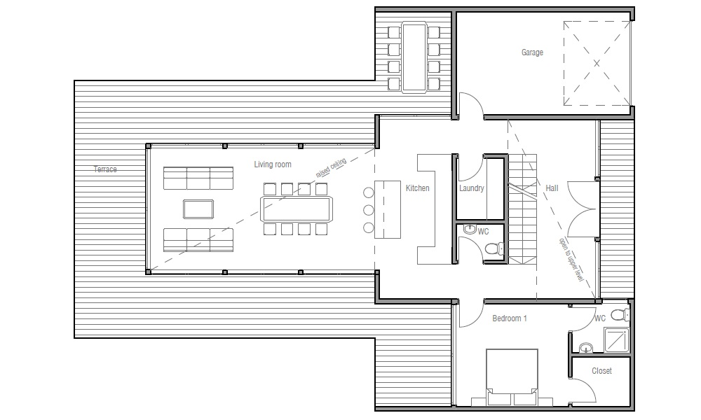 Contemporary home plan ch165 floor plans and 3d images Modern house floor plans