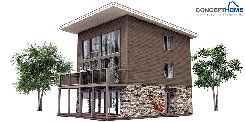 Contemporary Home Plan Ch99 To Tiny Lot With Full Floor