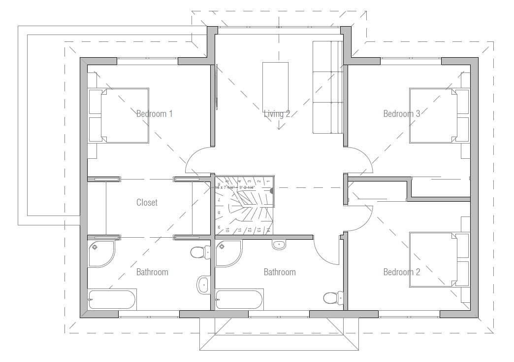 new designs 2013_modern_home_ch174 house plan for 24 feet by 56 feet plot plot size 149 square - New Home Plan Designs