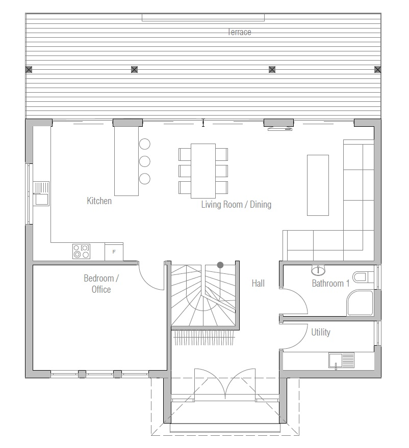 Small Lot Designs Small House Plan to Small Lot