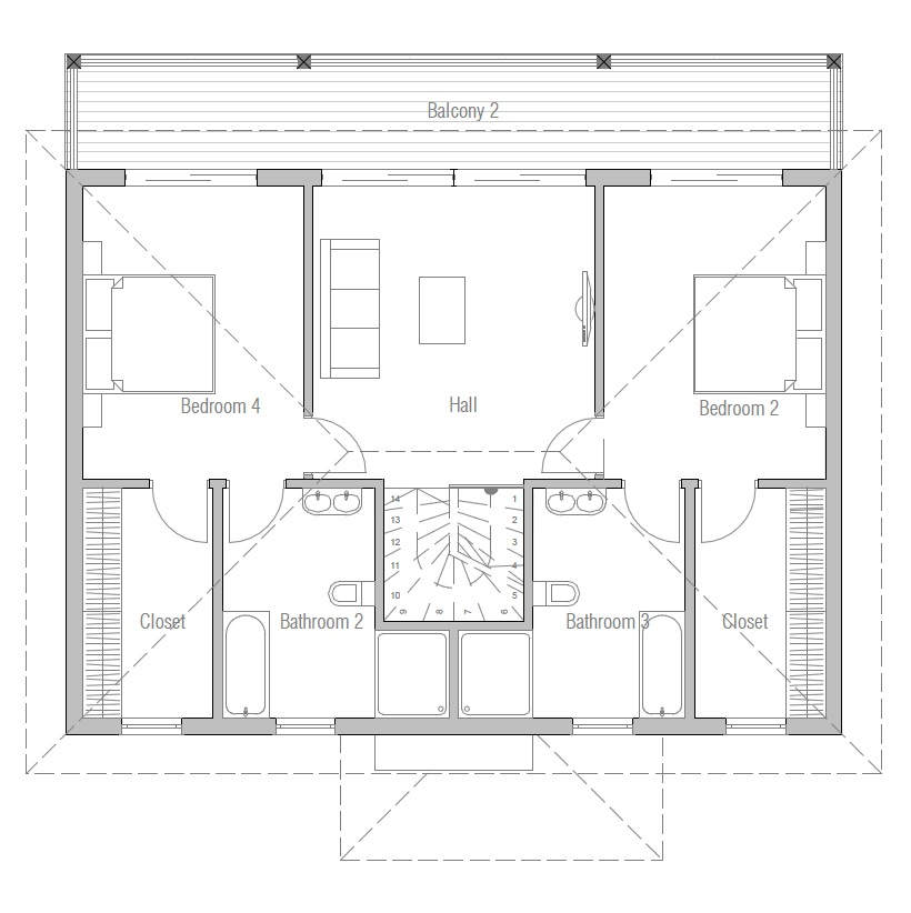 Small House Plan Ch175 In Modern Architecture House Plan