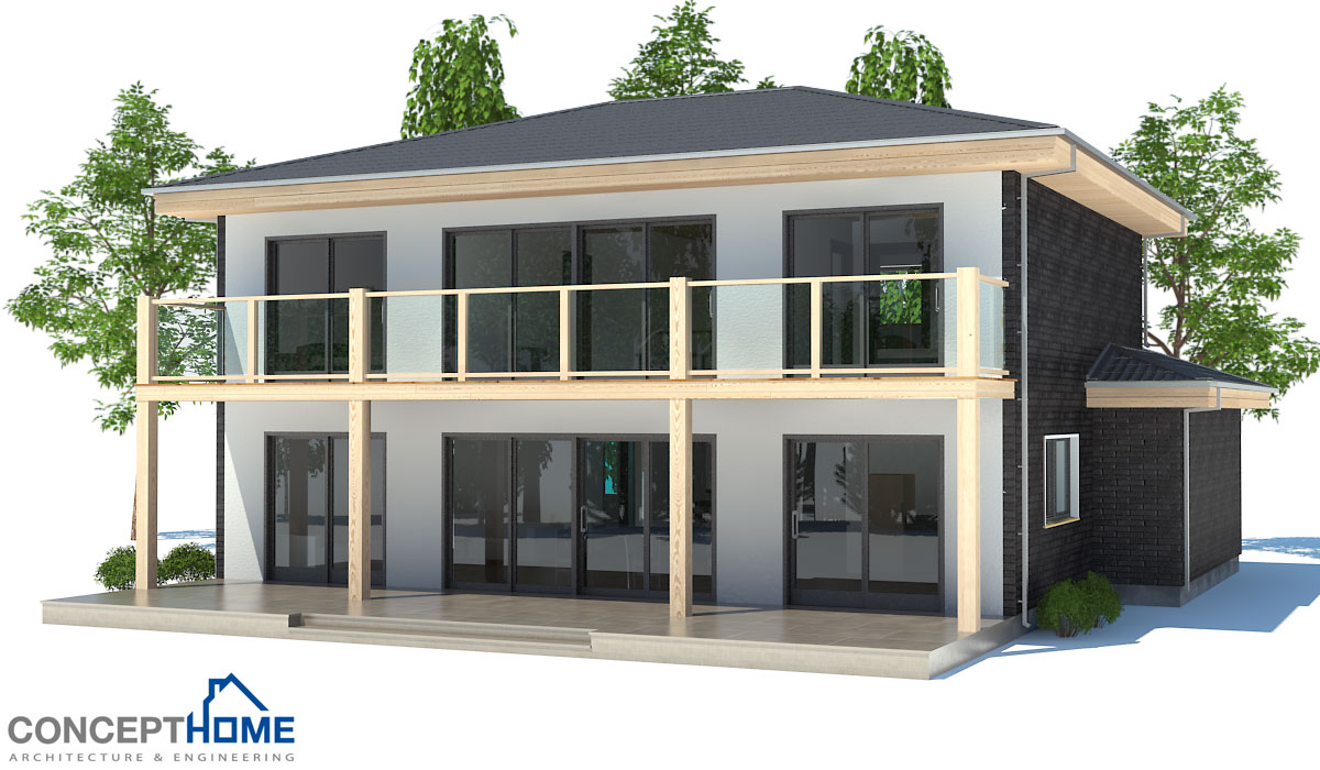 Modern house plan with two floors house plan for Moderate house plans