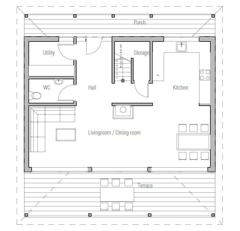 Small house plan ch187 images floor plans small home for House plans with cost to build