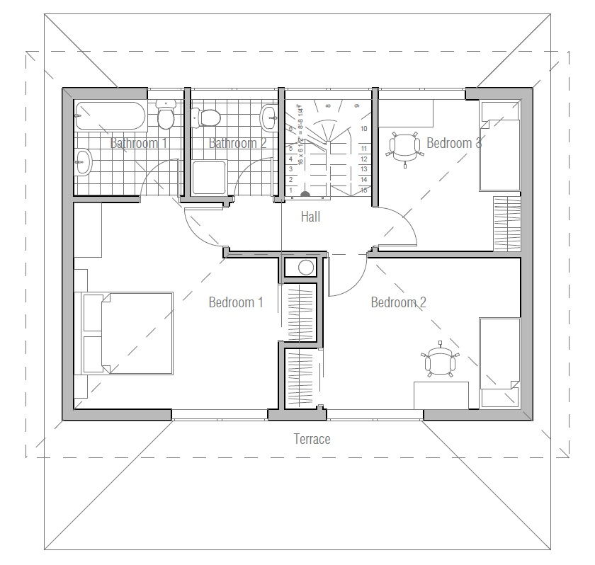 Small house plan ch187 images floor plans small home for Small efficient home plans