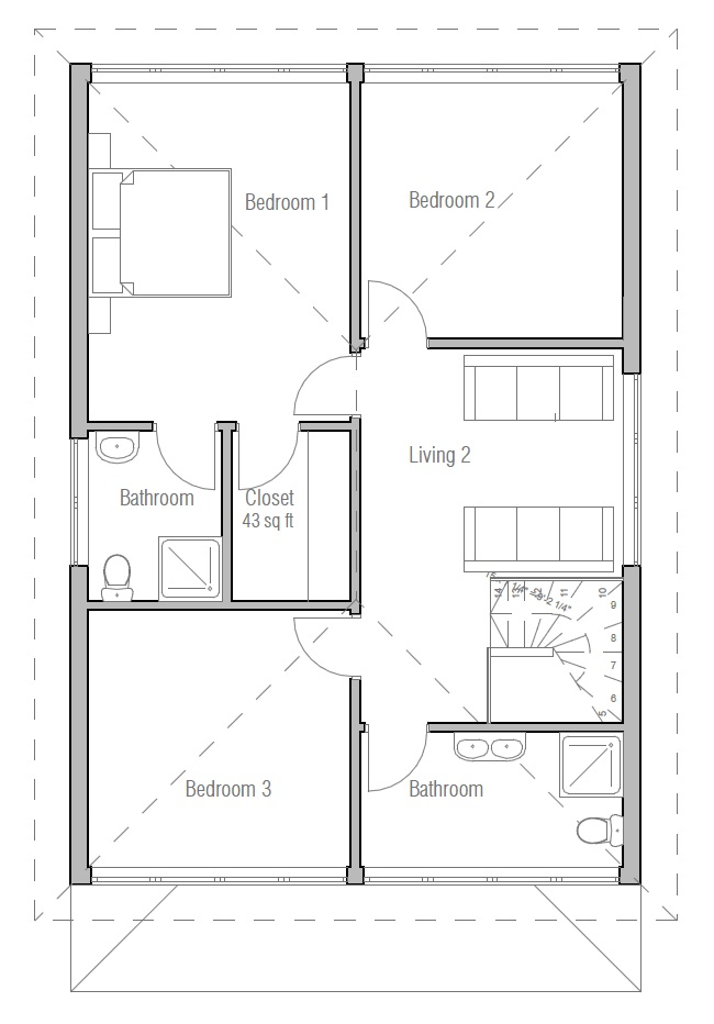 Small House Plan With Affordable Building Budget With Two