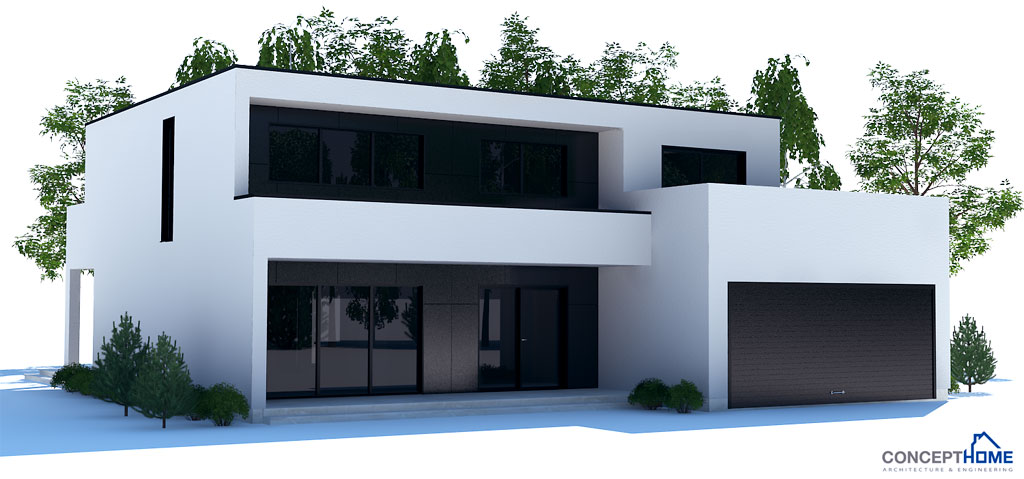 Contemporary House Plan With Open Planning Three Bedrooms
