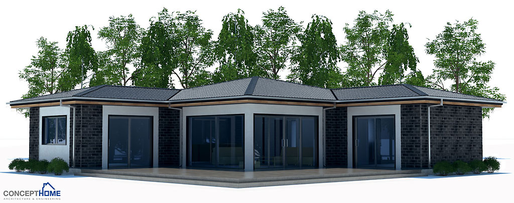 Small house plan with two bedrooms house plan for Cost to build a small cabin