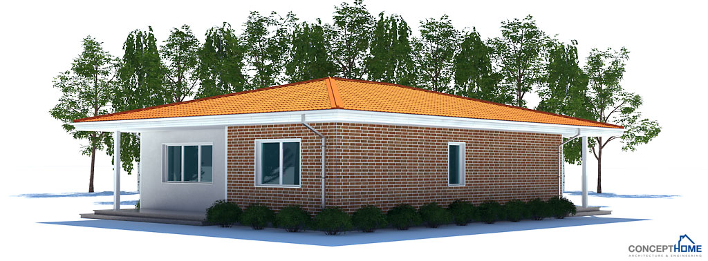 Small house plan to tiny lot with two bedrooms and covered for 100 000 house plans