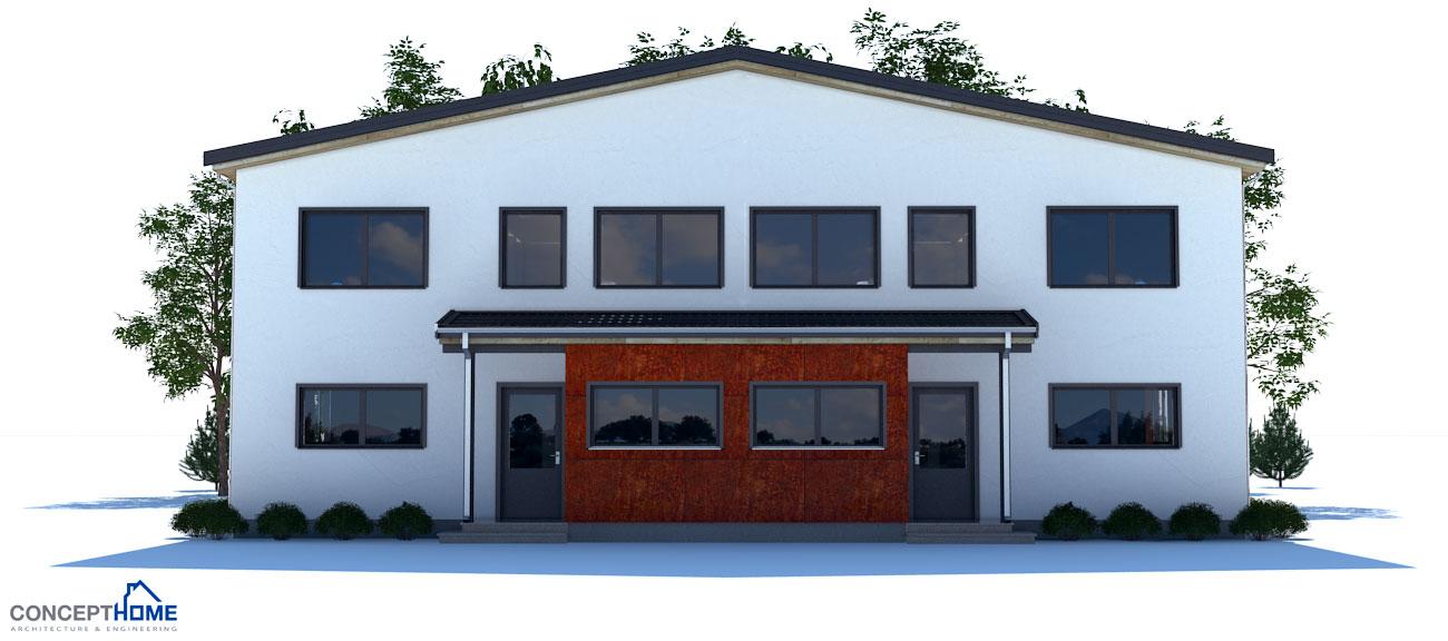 Duplex house plan ch135d house plan for Cheap duplex plans