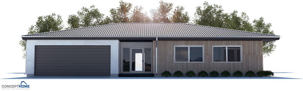 Small House Plan With Three Bedrooms And Open Plan Large