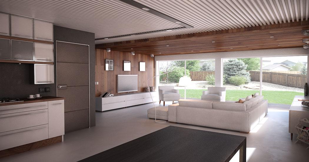 Modern house design with open floor plan efficient room for Modern efficient house plans