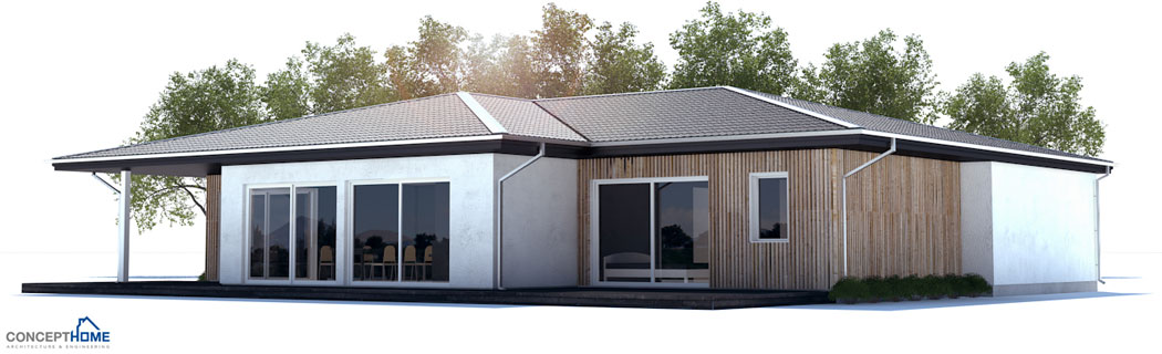 Modern House Design with three bedrooms and open plan ...
