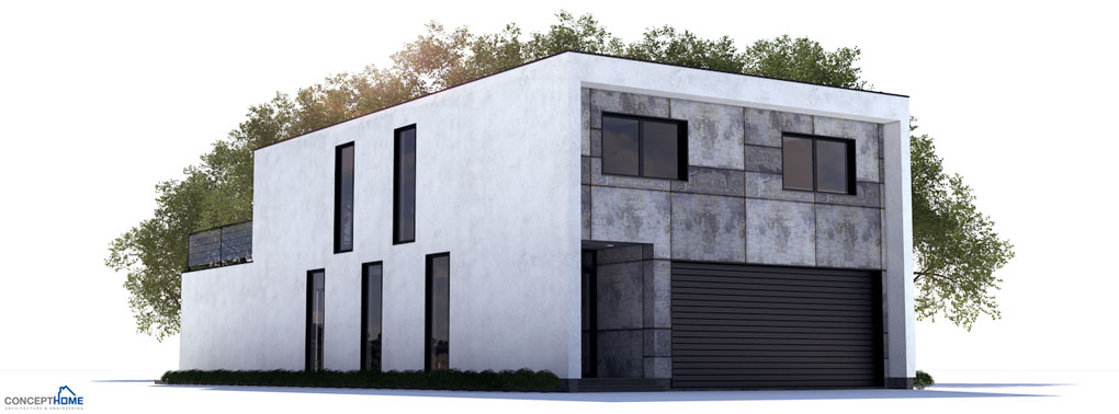 Modern contemporary home plan to narrow lot house plan for Contemporary house plans for narrow lots