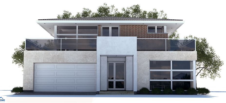 Modern house plan with three bedrooms two floors for New concept homes