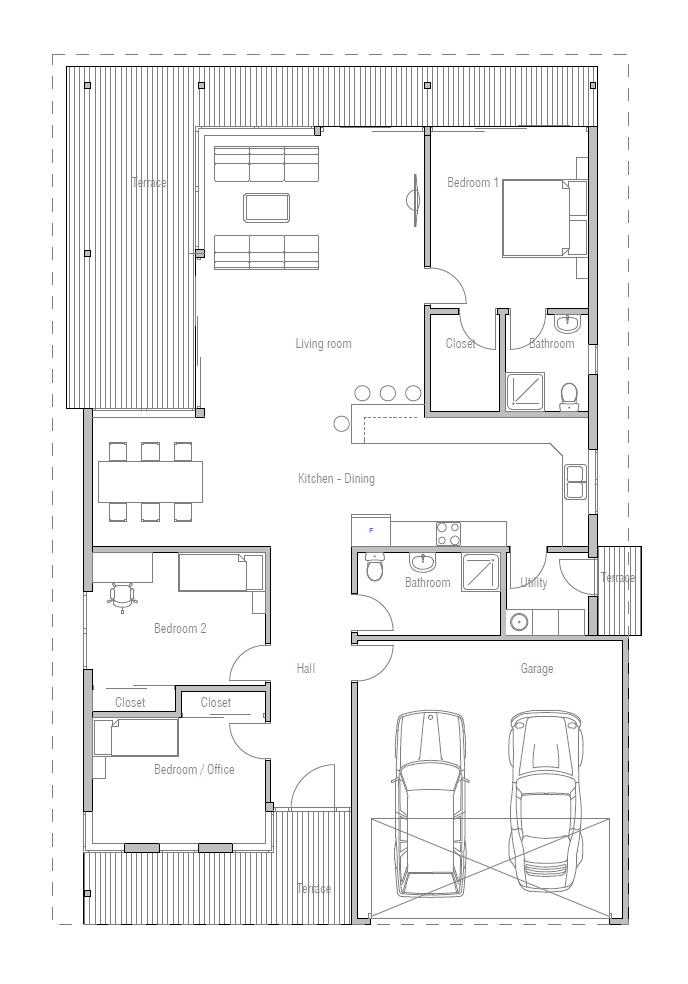 Minimalist contemporary home design house plan for Minimalist house plans narrow lot