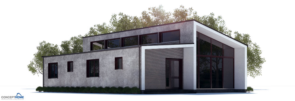 Small House Plan With Large Windows And Open Plan House Plan
