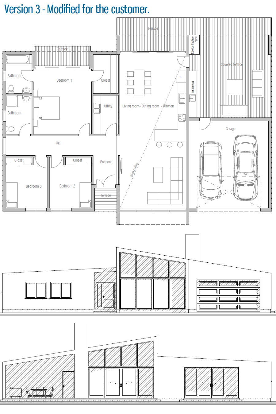 House floor plan 149 for Planos arquitectonicos de casas