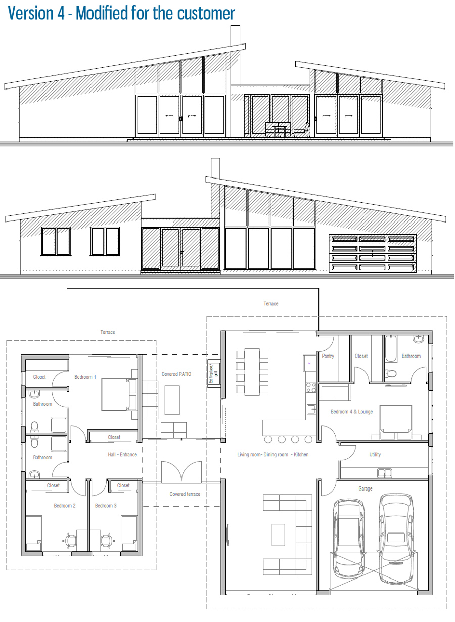 Modern house plan ch286 house plan for House plan websites