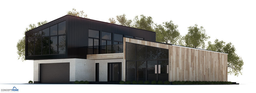 Modern house plan with four bedrooms house plan - Hungarian style house plans open gables ...