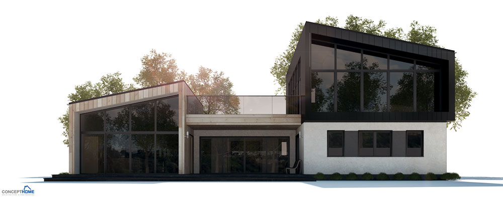 Modern house plan with four bedrooms house plan for Beach house design concept