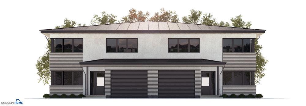 Duplex House Plan Ch177d In Modern Architecture House Plan