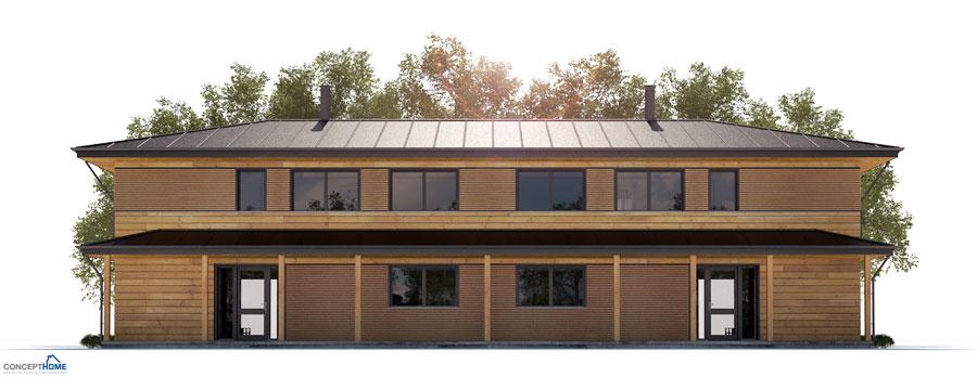 Duplex House Plan Ch187d House Plan House Plan