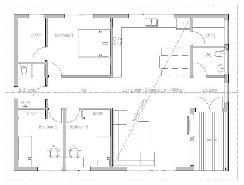 House plan ch302 house plan for Affordable house plans to build