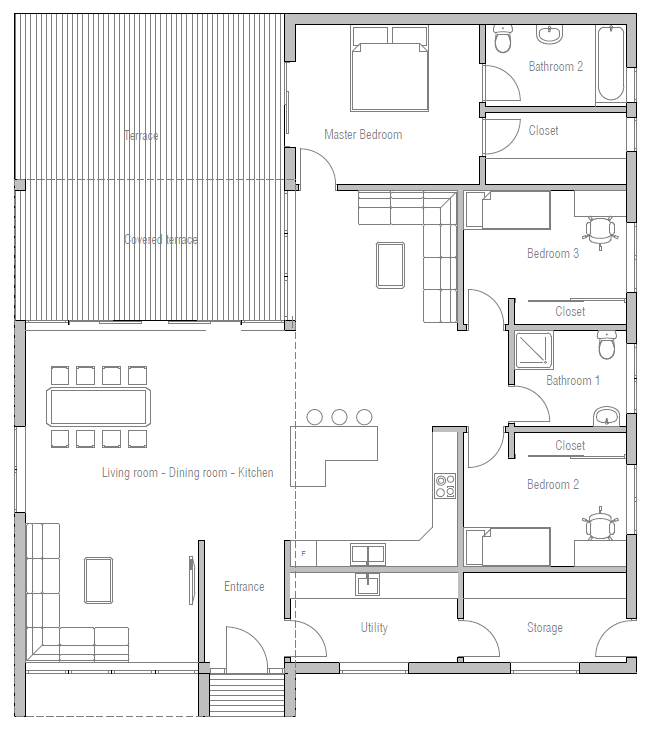 House plan ch321 with high ceilings and large windows house plan - House plans high ceilings ...