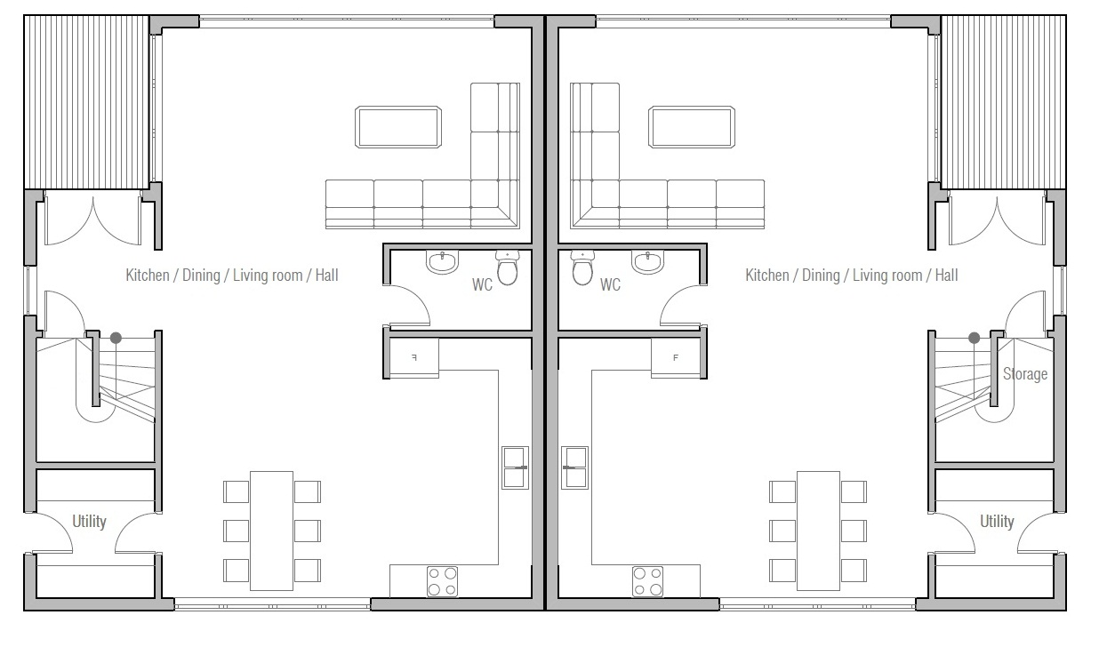 Duplex house plan ch392d house plan for Plan of duplex building